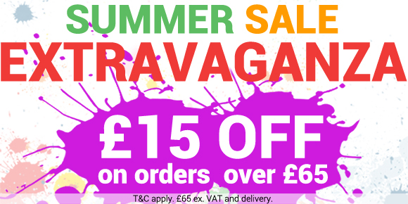 SUMMER SALE EXTRAVAGANZA! Get �15 OFF on orders over �65 (exc VAT and delivery).