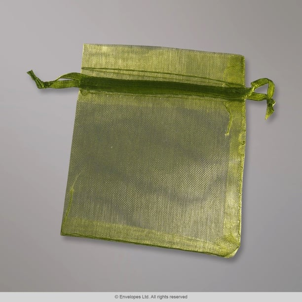 90x70 mm Army Green Organza Bag