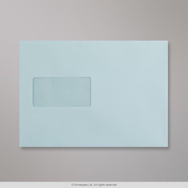 162x229 mm c5 light blue coloured window envelope for 10 window envelope
