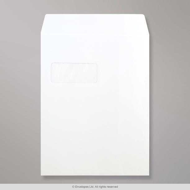 330x248 mm enveloppe post marque blanche avec fen tre for Enveloppe c4 avec fenetre