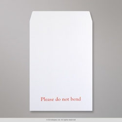 324x229 mm (C4) White Allcard Envelope Printed Please Do Not Bend