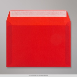 162x229 mm (C5) Red Translucent Envelope