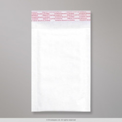 165x100 mm White Kraft Padded Bag