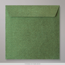 130x130 mm Forest Green Textured Envelope