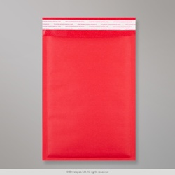 324x230 mm (C4) Red Coloured Kraft Bubble Bag