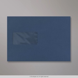 162x229 mm (C5) Dark Blue Coloured Window Envelope