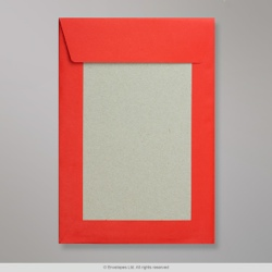 229x162 mm (C5) Rosella Red Board Back Envelopes