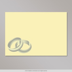 82x113 mm (C7) Ivory envelope with silver rings