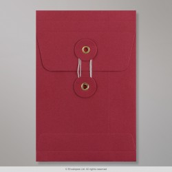 162x114x25 mm (C6) String & Washer Red Gusset Envelope
