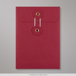 162x114 mm (C6) String & Washer Red Envelope