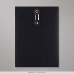 229x162 mm (C5) String & Washer Black Envelope