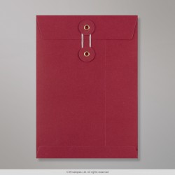 229x162 mm (C5) String & Washer Red Envelope