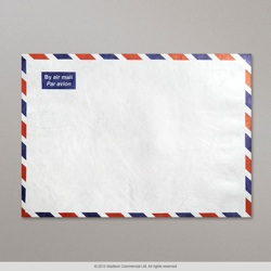 330x254 mm White Airmail Envelope