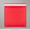 165x165 mm Red Coloured Kraft Bubble Bag