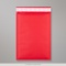 350x250 mm Red Coloured Kraft Bubble Bag