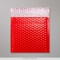 165x165 mm Rood Poly Glans Bubbel Tasje