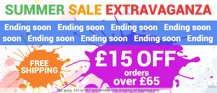 Summer Sale Extravaganza! Get £15 OFF on all orders over £65 (ex. VAT and delivery).