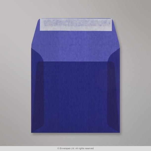 160x160 mm enveloppe transparente bleue fonc e b6160 enveloppes france. Black Bedroom Furniture Sets. Home Design Ideas