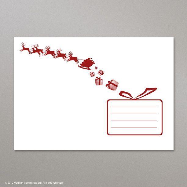 162x229 mm  c5  white christmas card envelope with santa