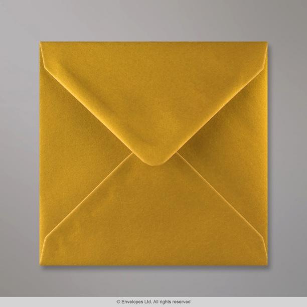 140x140 mm metallic gold envelope