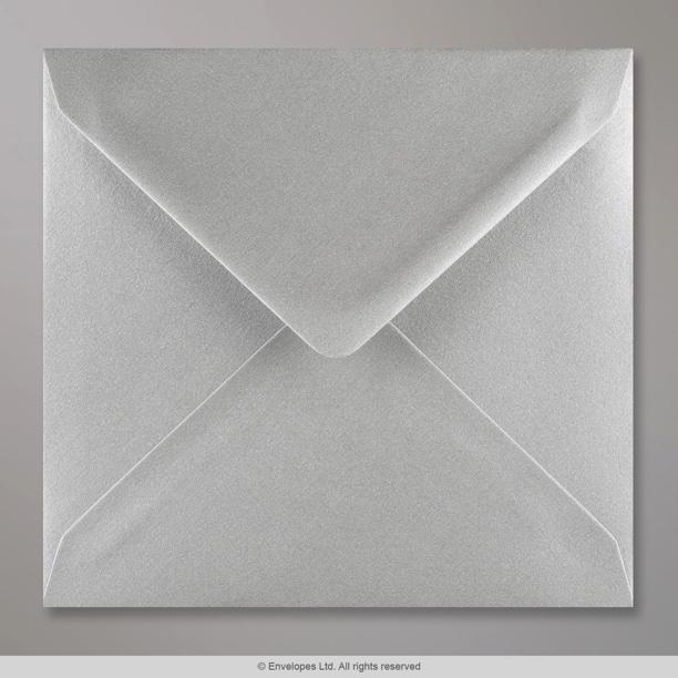 155x155 mm metallic silver envelope