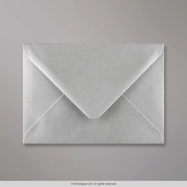 114x162 Mm C6 Metallic Silver Envelope E05c6 Simply
