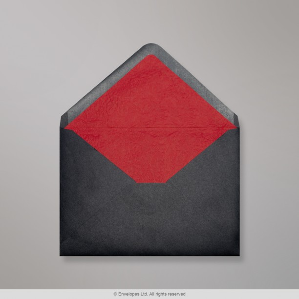 114x162 mm (C6) Black Envelope Lined With Red Fancy Paper ... - photo#40