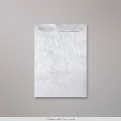 324x229 mm (C4) Platinum - Silver Tyvek Envelope, Platina, Peel and Seal