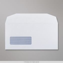 110x220 mm (DL) White Envelope, White, Gummed