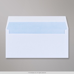 102x216 mm White Envelope, White, Gummed
