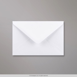 108x159 mm White Envelope, White, Gummed