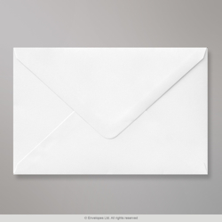 121x184 mm White Envelope, White, Gummed