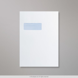 324x229 mm (C4) White Window Envelope