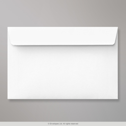 127x190 mm White Envelope, White, Peel and Seal