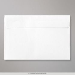 135x195 mm White Envelope, White, Peel and Seal