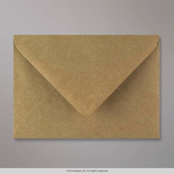 114x162 mm (C6) Brown Ribbed Envelope, Brown, Gummed