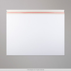 444x625 mm White All Board Envelope, White, Peel and Seal