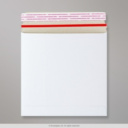 195x195 mm White All Board Envelope, White, Peel and Seal