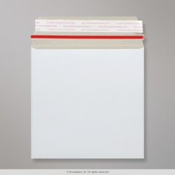 220x220 mm White All Board Envelope, White, Peel and Seal