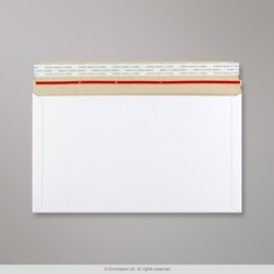 175x305 mm White All Board Envelope, White, Peel and Seal