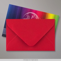 62x94 mm Scarlet Red Envelope, Scarlet Red, Gummed