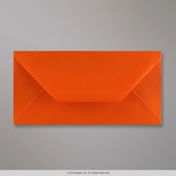 110x220 mm (DL) Orange Briefumschlag, Orange, Nassklebend