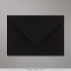 133x184 mm Black Envelope, Black, Gummed