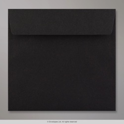 155x155 mm Black Envelope, Black, Peel and Seal
