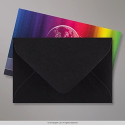 62x94 mm Black Envelope, Black, Gummed