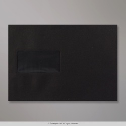 162x229 mm (C5) Black Envelope
