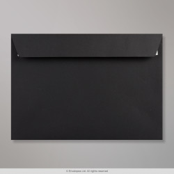 162x229 mm Black Envelope, Black, Peel and Seal