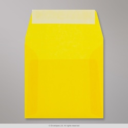 125x125 mm Yellow Translucent Envelope, Yellow, Peel and Seal