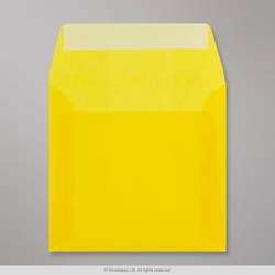 160x160 mm Yellow Translucent Envelope