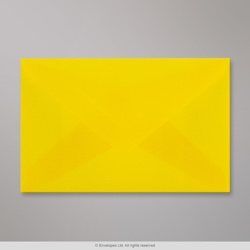 62x98 mm Yellow Translucent Envelope, Yellow, Gummed
